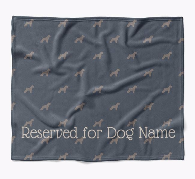 Personalised 'Reserved For' Blanket with Soft Coated Wheaten Terrier Silhouette Print
