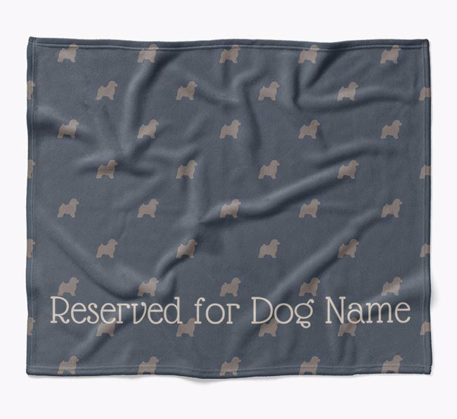 Personalised 'Reserved For' Blanket with Toy Poodle Silhouette Print