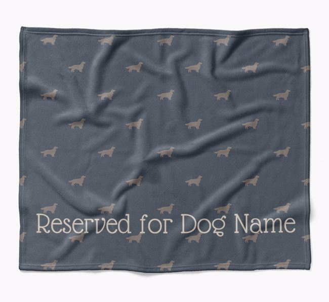 Personalised 'Reserved For' Blanket with Welsh Springer Spaniel Silhouette Print