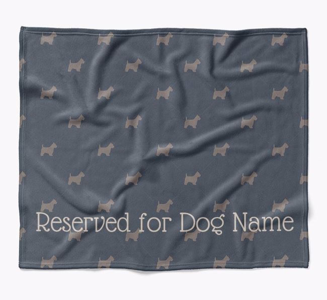 Personalised 'Reserved For' Blanket with West Highland White Terrier Silhouette Print