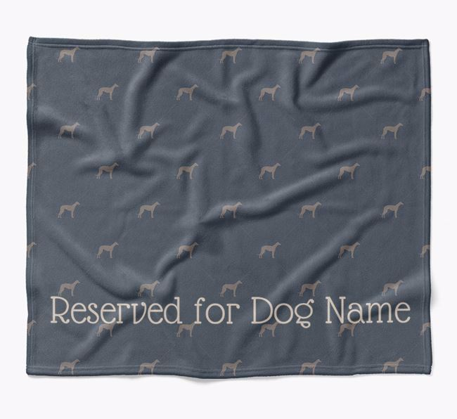 Personalised 'Reserved For' Blanket with Whippet Silhouette Print