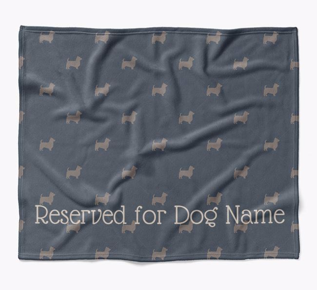 Personalised 'Reserved For' Blanket with Yorkshire Terrier Silhouette Print