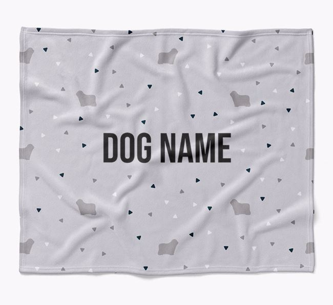 Personalized Triangle Pattern Blanket with Bergamasco Silhouettes