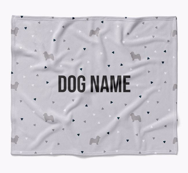 Personalized Triangle Pattern Blanket with Bolognese Silhouettes