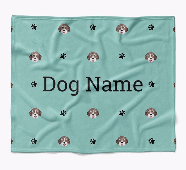 Personalized Blanket with Aussiedoodle Icon Print