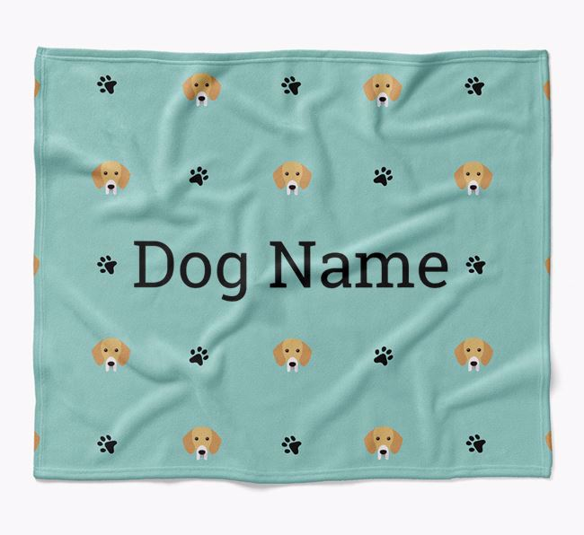 Personalized Blanket with Bassador Icon Print