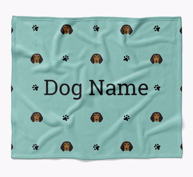 Personalized Blanket with Beagle Icon Print