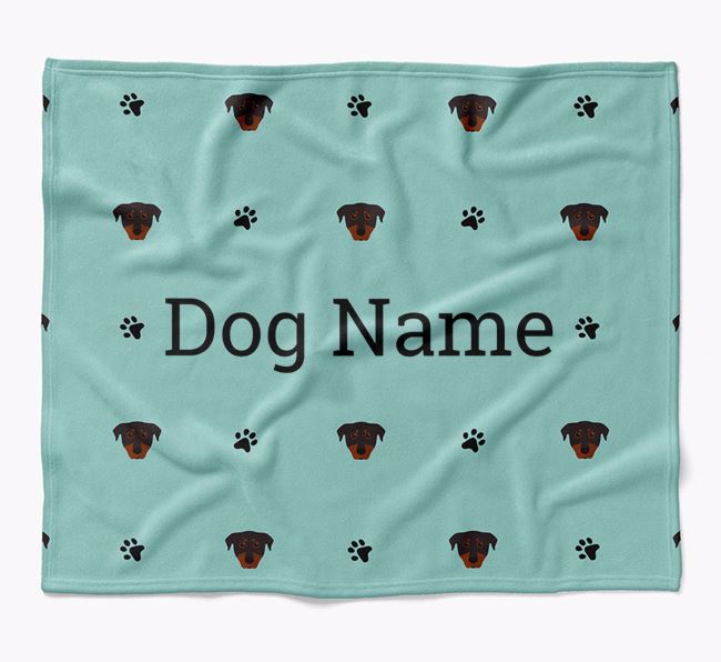 Personalized Blanket with Beauceron Icon Print