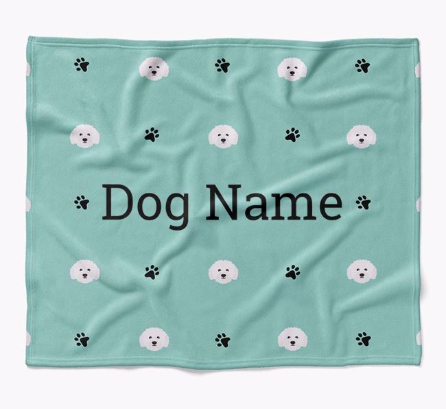 Personalized Blanket with Bolognese Icon Print