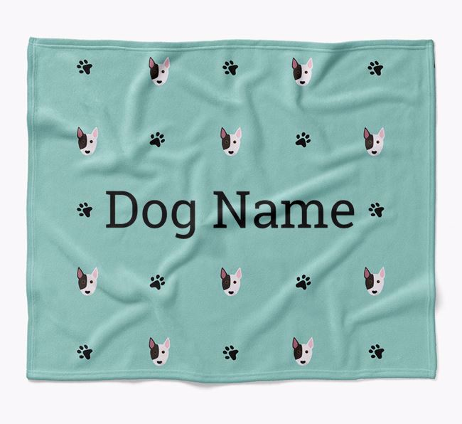Personalized Blanket with Bull Terrier Icon Print
