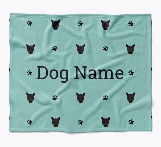 Personalized Blanket with Canaan Dog Icon Print