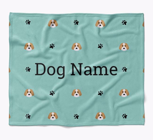 Personalized Blanket with Cavachon Icon Print