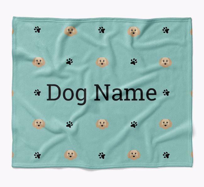 Personalized Blanket with Cavapoochon Icon Print