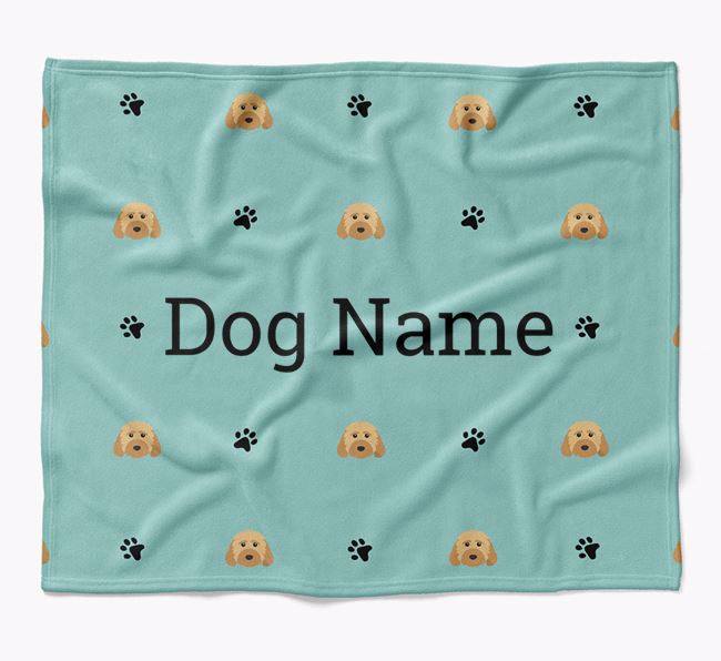 Personalized Blanket with Dog Icon Print