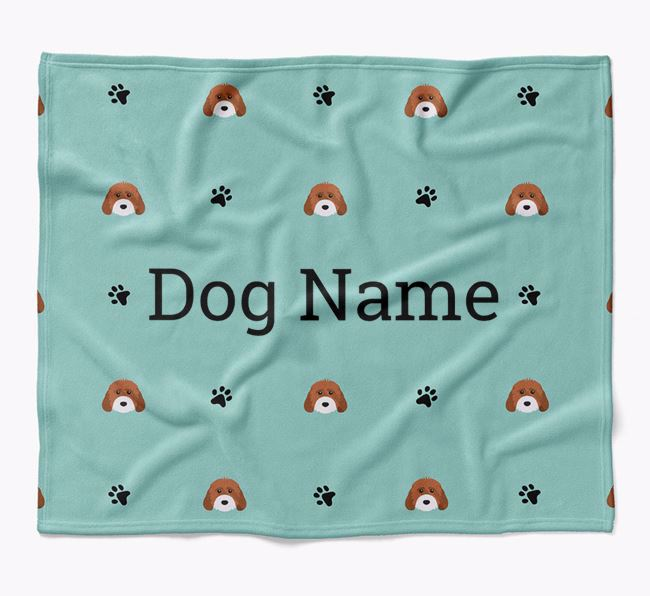 Personalized Blanket with Cockapoo Icon Print