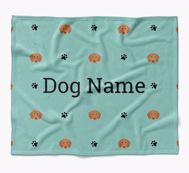 Personalized Blanket with Dachshund Icon Print