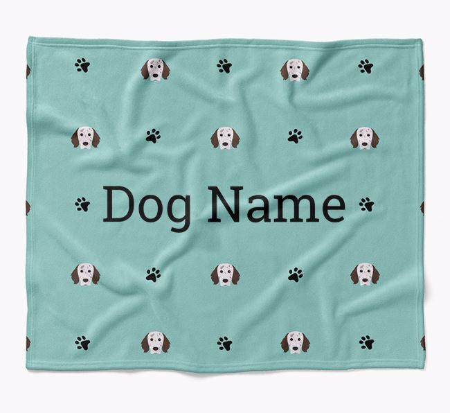 Personalized Blanket with English Setter Icon Print