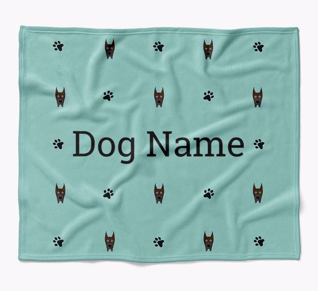 Personalized Blanket with Great Dane Icon Print