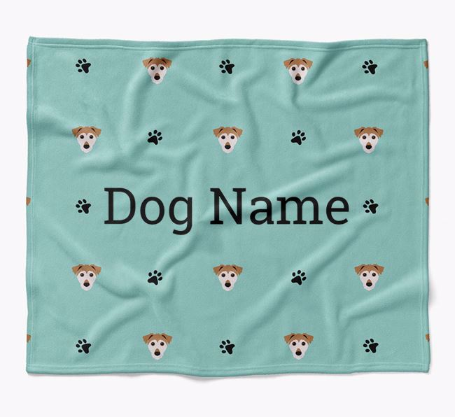 Personalized Blanket with Jack Russell Terrier Icon Print