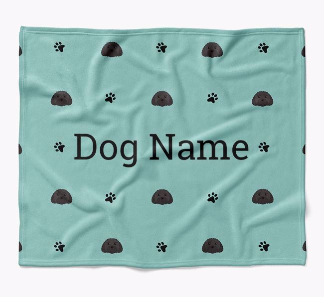 Personalized Blanket with Malti-Poo Icon Print