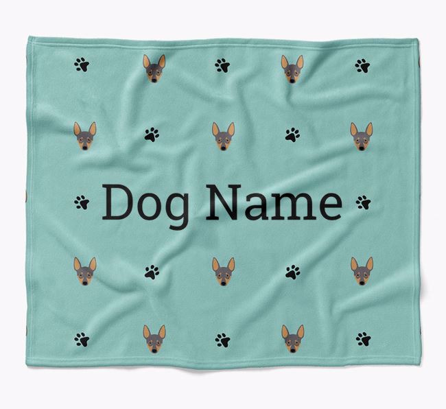Personalized Blanket with Miniature Pinscher Icon Print