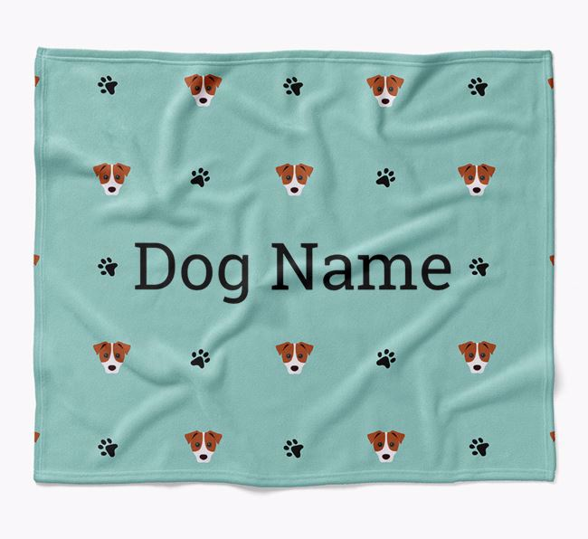 Personalized Blanket with Parson Russell Terrier Icon Print