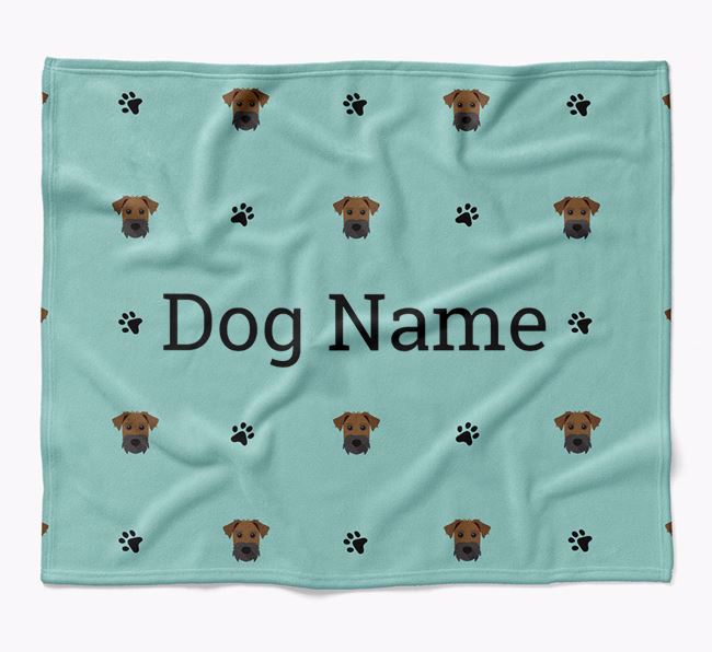 Personalized Blanket with Patterdale Terrier Icon Print