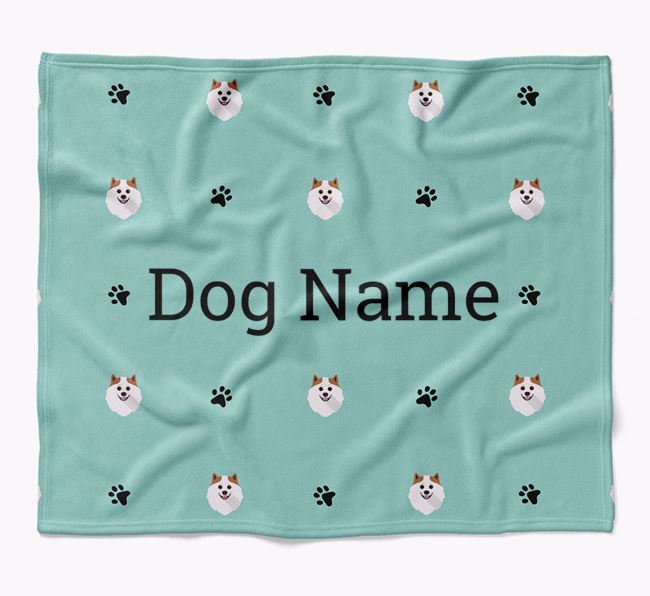 Personalized Blanket with Pomeranian Icon Print