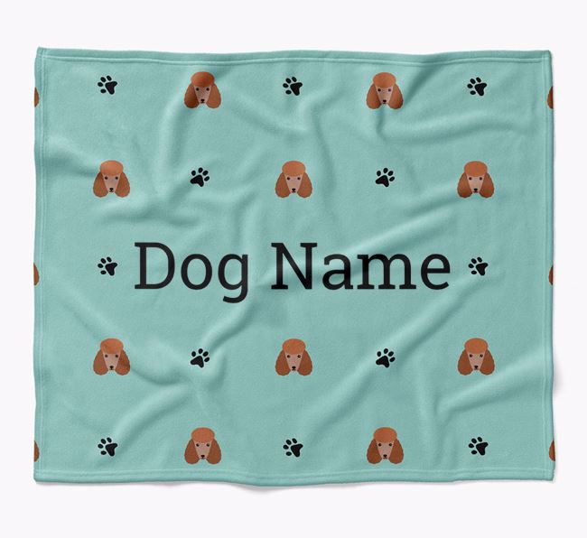 Personalized Blanket with Poodle Icon Print