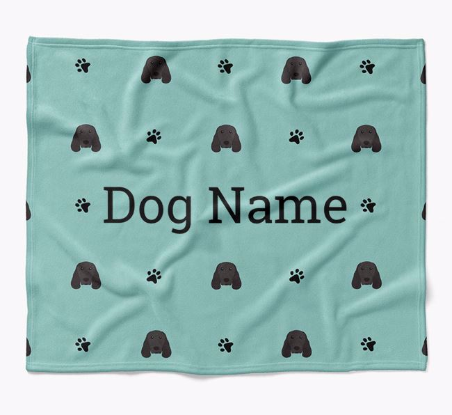 Personalized Blanket with Springer Spaniel Icon Print