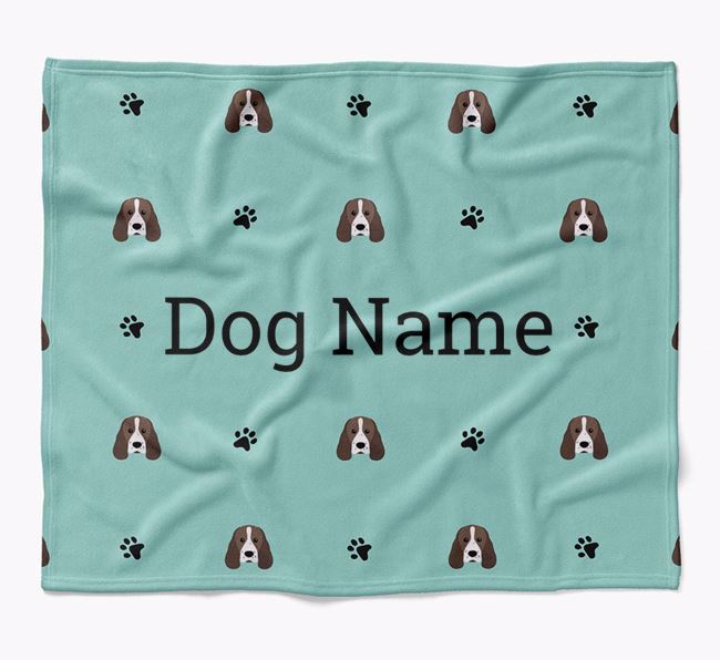 Personalized Blanket with Sprocker Icon Print