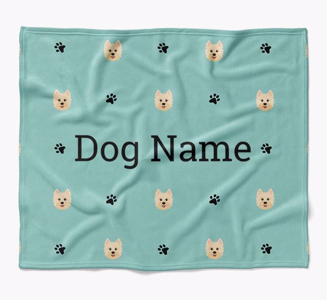 Personalized Blanket with Yorkshire Terrier Icon Print