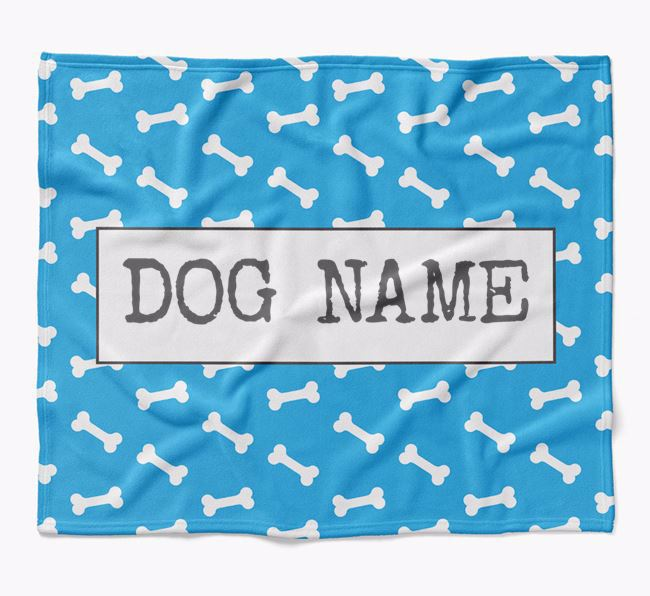 Personalized Bone Print Blanket for your Pug