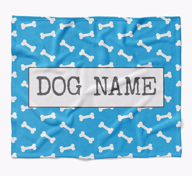 Personalized Bone Print Blanket for your Scottish Terrier