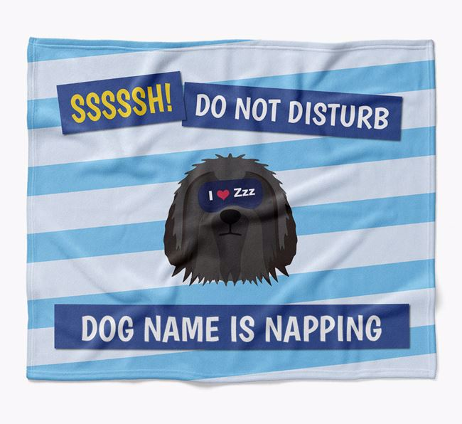 Personalized 'Do Not Disturb' Blanket for your Bearded Collie