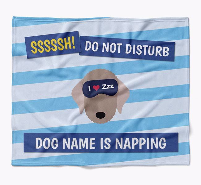 Personalized 'Do Not Disturb' Blanket for your Bedlington Terrier