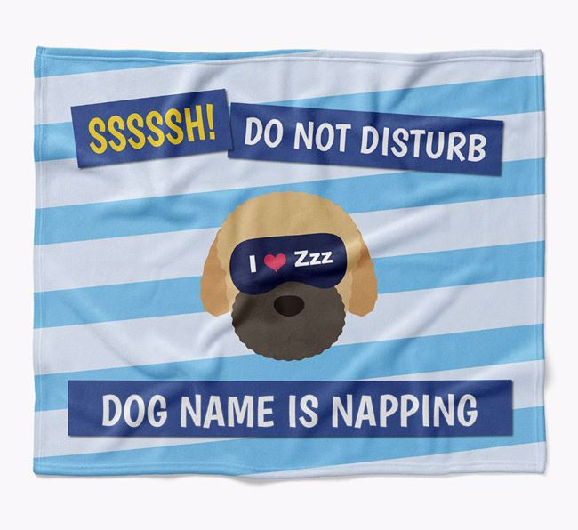 Personalized 'Do Not Disturb' Blanket for your Bich-poo