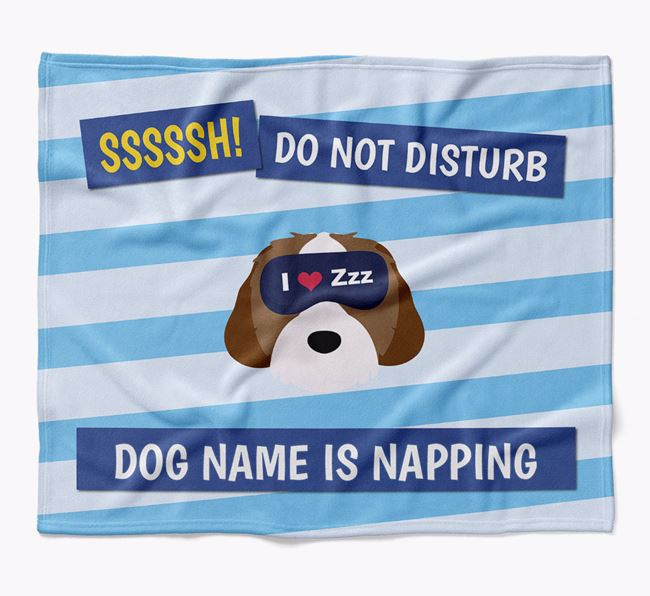 Personalized 'Do Not Disturb' Blanket for your Cavachon