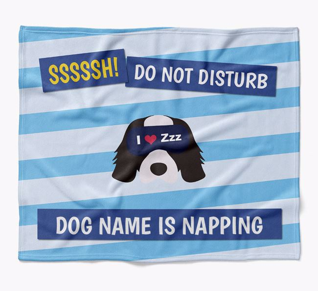 Personalized 'Do Not Disturb' Blanket for your Cavalier King Charles Spaniel