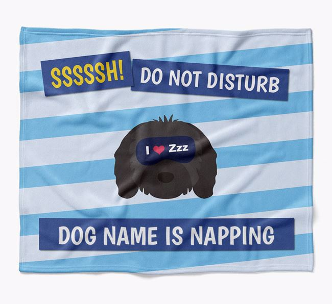 Personalized 'Do Not Disturb' Blanket for your Cavapoo