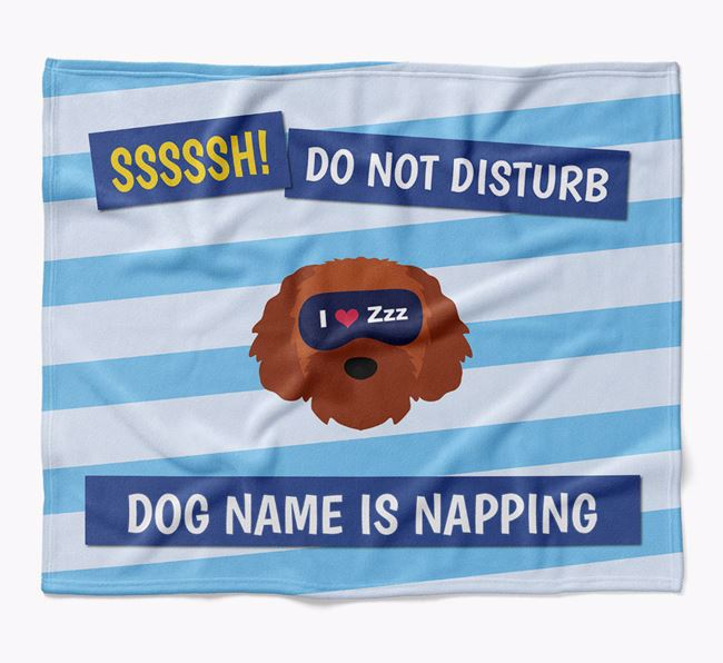 Personalized 'Do Not Disturb' Blanket for your Cavapoochon