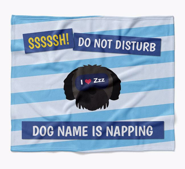 Personalized 'Do Not Disturb' Blanket for your Jack-A-Poo