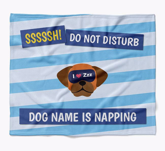 Personalized 'Do Not Disturb' Blanket for your Puggle