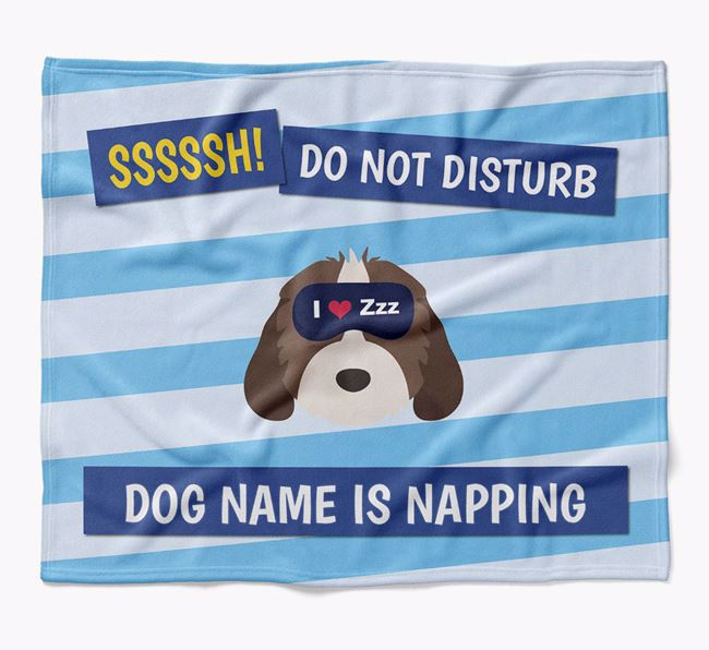 Personalized 'Do Not Disturb' Blanket for your Rescue Dog