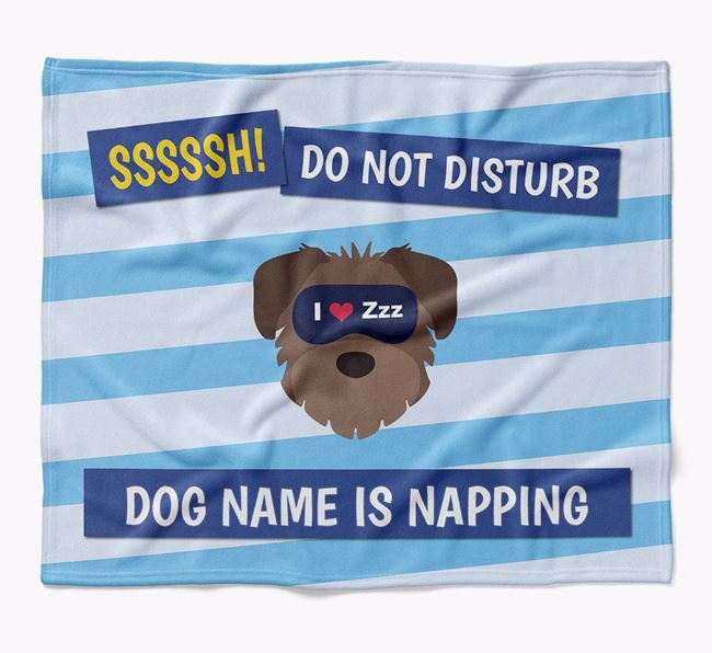 Personalized 'Do Not Disturb' Blanket for your Schnoodle