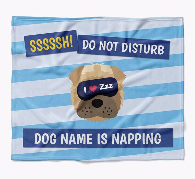 Personalized 'Do Not Disturb' Blanket for your Shar Pei