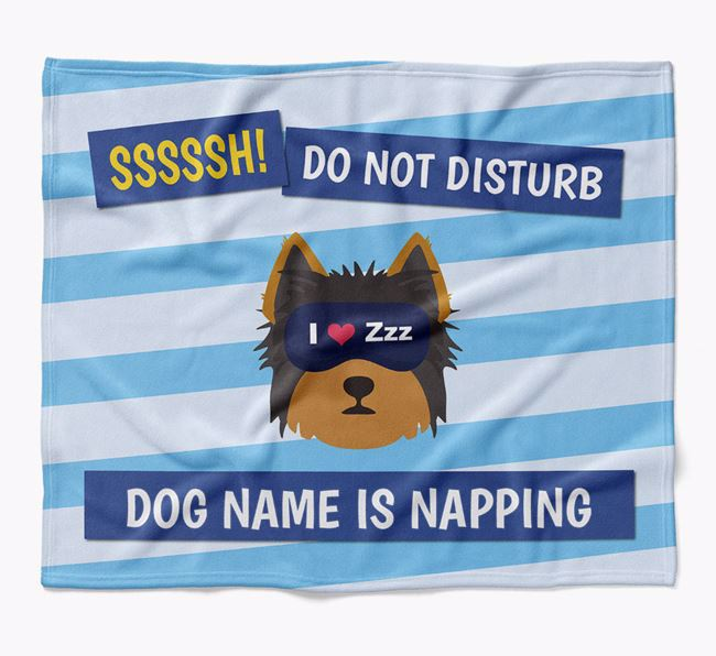 Personalized 'Do Not Disturb' Blanket for your Yorkshire Terrier