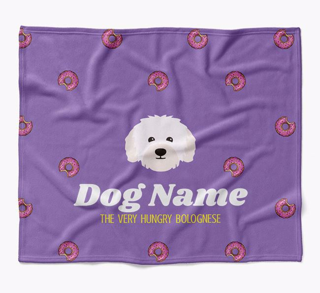 Personalized 'The Very Hungry Bolognese' Blanket with Doughnut Print