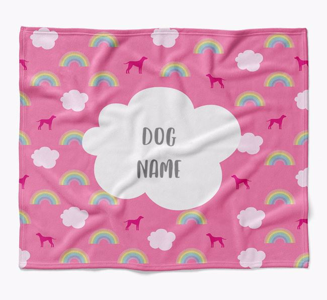 Personalized Rainbow Blanket with Dog Silhouettes