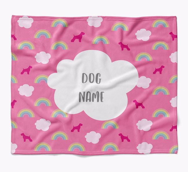 Personalized Rainbow Blanket with Soft Coated Wheaten Terrier Silhouettes